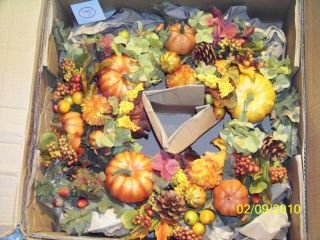 "18"" Wreath Mixed Pumpkins Gourds Hydrangea Holiday Seasonal Fall by Valerie $85"