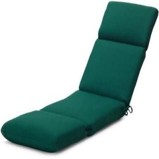 Strathwood Basics Hardwood Chaise Lounge Sunbrella Cushion Forest Green Lawn Pat