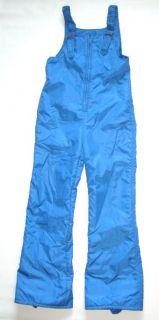 Vintage 1970's Ski Bibs Pants Snow Winter Suit Large Leg Blue Vtg 70s Women S