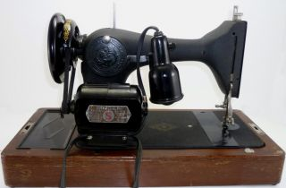 Vintage Singer Simanco Portable Sewing Machine w Case