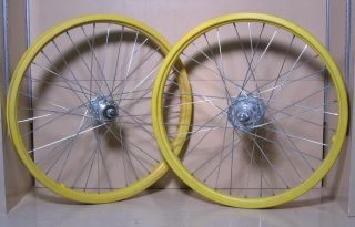 "Old School BMX 20"" Wheels ACS Z Rims Sunshine Sovos Hubs"