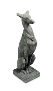 New Marble Resin Whippet Dog Lawn Garden Statue Moss