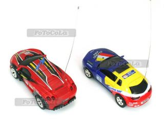 49MHz Mini Micro Remote Control Car Race Racer Toy 4 Direction w Road Blocks