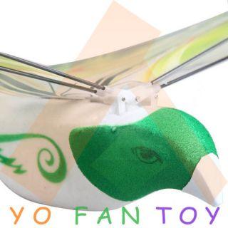 Flying E Bird Kid's RC Toy RC Flying Bird Remote Control Bird with Shooting Gun
