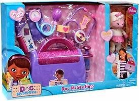 Disney 8 PC Doc McStuffins Doctor's Bag w Bonus Lambie Doll Playset Costume Toy