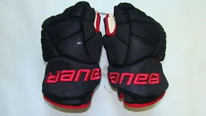 "Bauer X60 ""Custom Colors"" Black Red Hockey Gloves 13"""