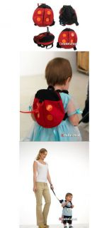 Baby Toddler Kids Boys Girls Children Walking Safety Rein Harness Ladybug Bag