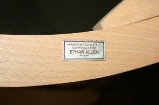 Ethan Allen Solid Hardwood Chair Made It Italy RN 48864
