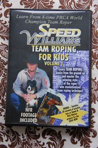 Speed Williams Team Roping for Kids Volume 1 DVD Instructional PRCA Champion VG
