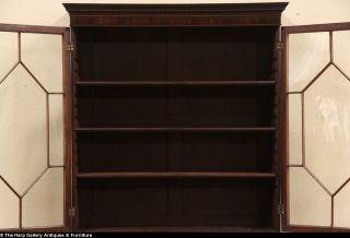 Georgian English Antique 1840 Secretary Desk Bookcase
