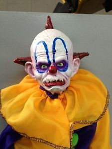 Creepy Horror Haunted House Clown Doll Halloween Prop