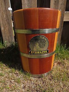 Vintage Richmond Cedar Works Sterling Ice Cream Maker Parts Wooden Wood Bucket