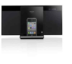 Panasonic Mini Stereo System Apple iPod Dock CD Player Radio Remote Sound System