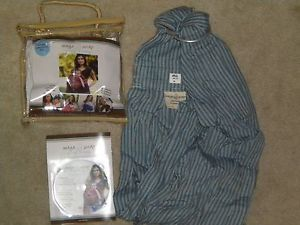 Maya Wrap Baby Sling Size M Blue w Instructional DVD Original Packaging
