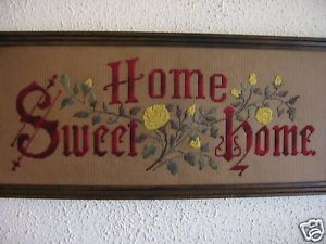 Antique Motto Sampler Embroidery Kit Home Sweet Home