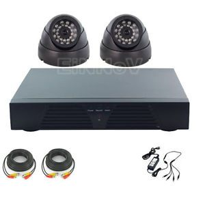 New 4CH CCTV DVR Kit Home Security Camera System 2X 800TVL CCTV Cameras VT02