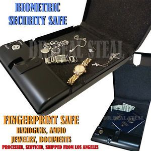 KS Tech Fingerprint Sensor Gun Pistol Cash Safe Box Car Home Office Biometric