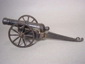 RARE Antique Cast Iron Home Guard Safety Firecracker Cannon 1888 Toy Brookline