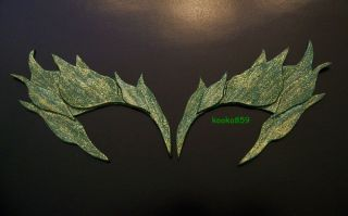 Poison Ivy Eyebrows Green Metallic Gold Glitter Eye Mask Batman Cosplay Costume