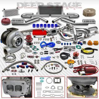 GT45 T4 20pc Turbo Kit w Intercooler Manifold Wastegate Chevy Small Block Camaro