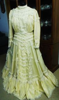 Ladys Edwardian 1800's Wedding Dress No Out of U s Shipping