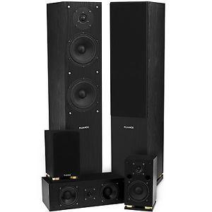 Fluance SXHTB BK 5 Speaker Surround Sound Home Theater System Black