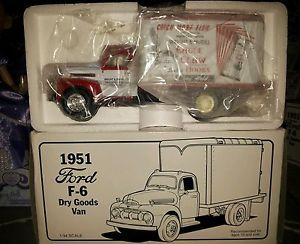 New First Gear 1951 Ford F 6 Dry Goods Van Eagle Claw Hooks 1 34 Scale