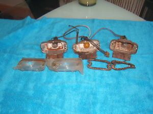 1966 67 Pontiac GTO LeMans Front Parking Turn Signal Light Housings and Lenses