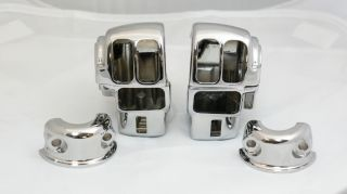 Harley Davidson re Chrome Switch Housings Touring w O Cruise FLHX
