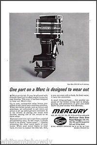 1963 Mercury Kiekhaefer 650 65 HP Vintage Outboard Motor Ad