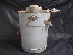Antique KitchenAid Ice Cream Maker Wood Bucket Manual Hand Crank Troy Ohio Vtg