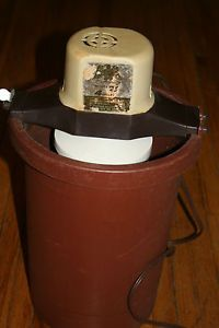 Richmond Cedar Works Electric Ice Cream Maker Freezer 4 Qt Plastic Bucket