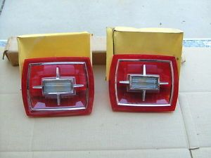 1966 Ford Galaxie Tail Light Lenses Pair NOS Lamp Lens Lights