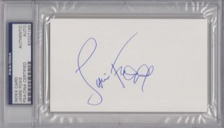 PSA DNA Slabbed Signed Index Card Jamie Foxx 7186
