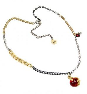 Disney Couture Snow White Poison Apple Skull Necklace