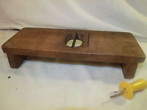 Old Antique Wooden Corn COB Silker Cleaner Cutter Kitchen Utensil Tool Unusual
