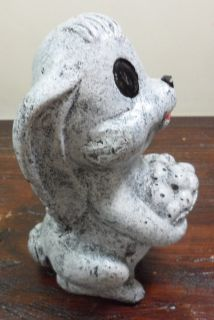 Vtg Mid Century Signed Thumper Bunny Rabbit Concrete Lawn Garden Statue Ornament