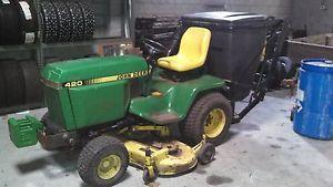 John Deere 420 Garden Tractor Lawn Collection