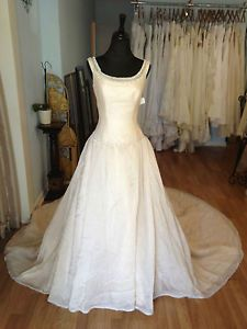 Anolique Pink Internal Corset Back Wedding Dress Bridal Gown with Sz 6