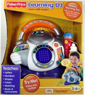 New Fisher Price Fun 2 Learn Learning DJ Sing A Long Karaoke Songs Games Dance
