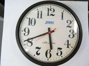 Quill Seth Thomas Large Number AC DC Battery Electric Shop School Office Clock
