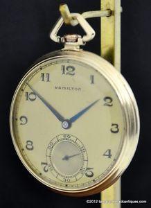 Hamilton 923 10S 23J Jewel Antique Pocket Watch 14k Gold Case Ready to Use