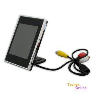"""3 5"""" TFT LCD Car Rear View VCR DVD CCTV Reversing Camera Monitor"""