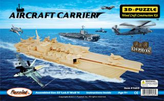 Aircraft Carrier 3D Puzzle Wood Craft Construction Kit