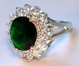 Kate Middleton Princess Diana Ring Replica Emerald CZ