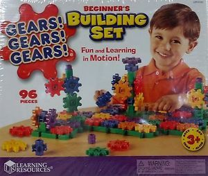 """Gears"" Beginners Building Set Toy Learning Resources LER 9162 New in Box"