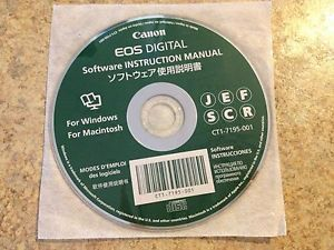 Canon EOS Digital Software Instruction Manual for Windows Mac CD