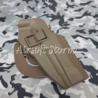 CQC Tactical Beretta 92 96 RH Drop Leg Holster with Magazine Light Case Brown