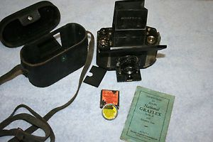 Vintage National Graflex Camera Series II with Instruction Manual Lens Filter