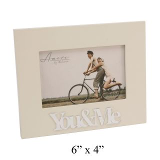 "Amore Couples Gifts 3D ""You Me"" Cream MDF Photo Picture Frame Present 6"" x 4"